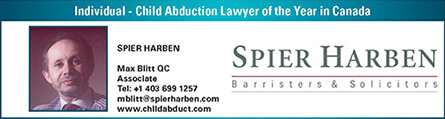 Individual - child abduction lawyer of the year in canada
